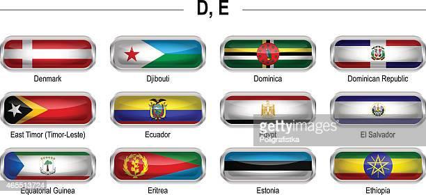 "flags icon - ""d"", ""e"" - ethiopia stock illustrations, clip art, cartoons, & icons"