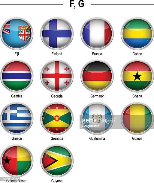 "flags icon - ""f"", ""g"" - ghana stock illustrations, clip art, cartoons, & icons"