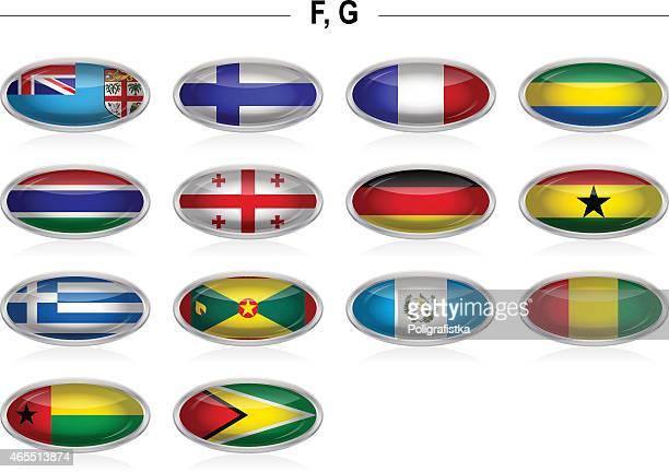 "flags icon - ""f"", ""g"" - ghana flag stock illustrations, clip art, cartoons, & icons"