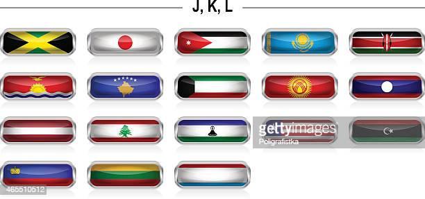 "flags icon - ""j"", ""k"", ""l"" - jamaican culture stock illustrations, clip art, cartoons, & icons"