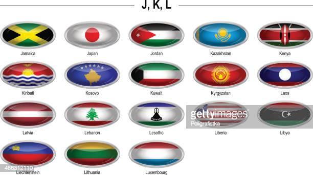 "Flags icon - ""J"", ""K"", ""L"""