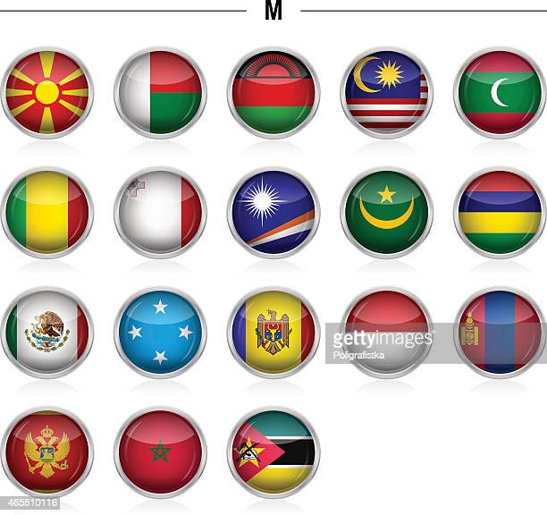 """flags icon - """"m"""" - marshall islands stock illustrations, clip art, cartoons, & icons"""