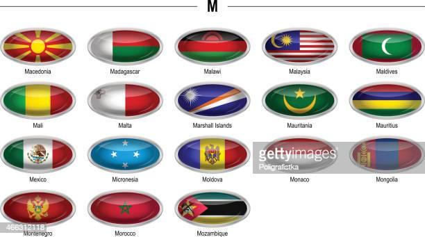 "flags icon ""m"" - montenegro stock-grafiken, -clipart, -cartoons und -symbole"