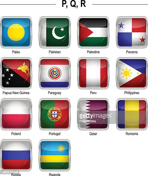 """Flags icon - """"P"""", """"Q"""", """"R"""""""
