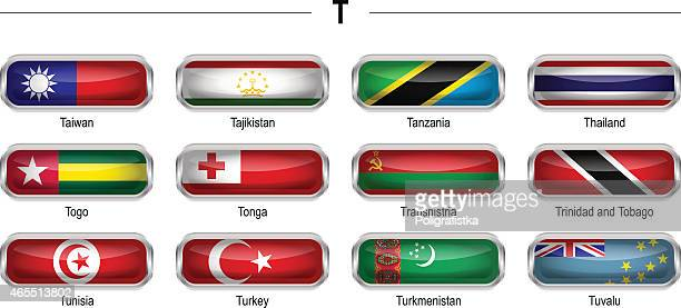 """flags icon - """"t"""" - tuvalu stock illustrations, clip art, cartoons, & icons"""