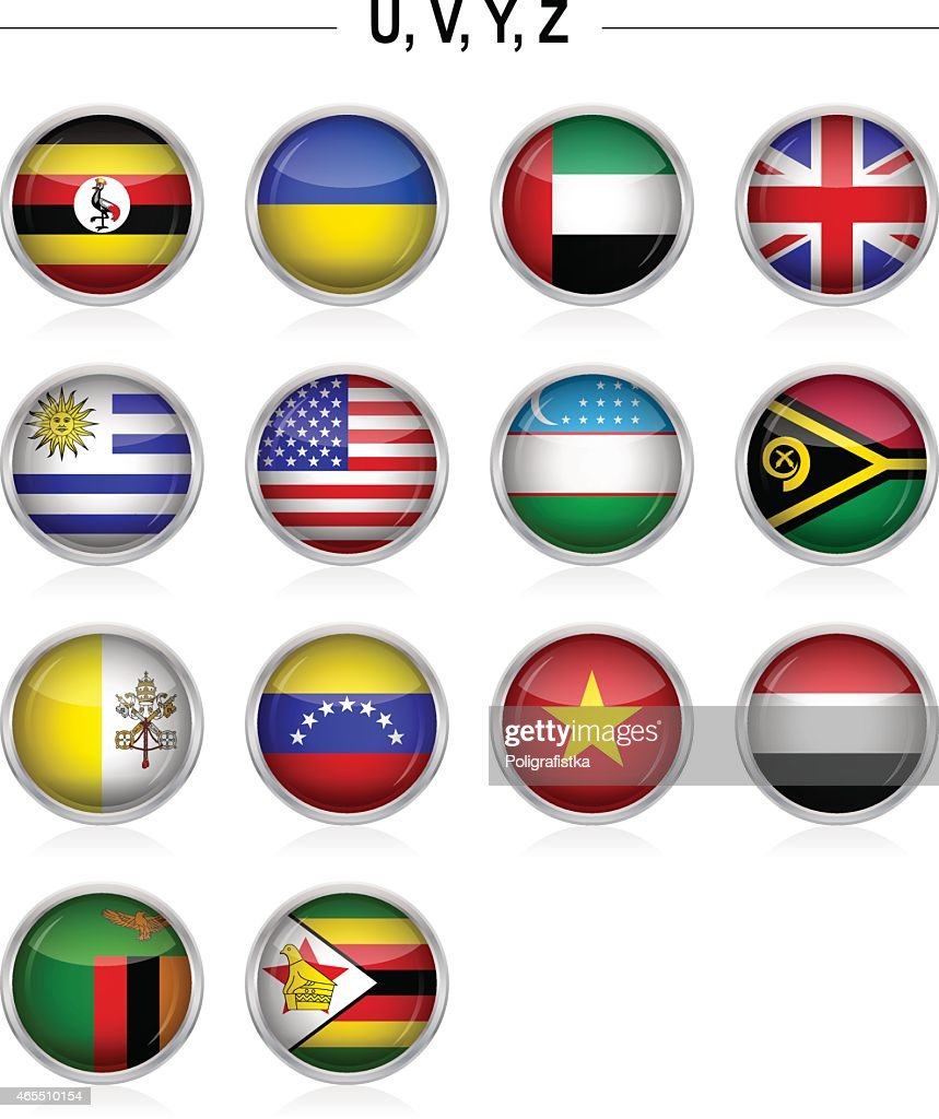Flags icon - 'U', 'V', 'Y', 'Z'