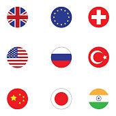 Flags illustration