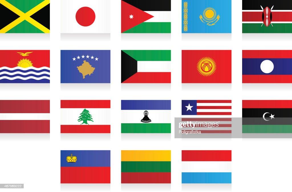 Flags - 'J', 'K', 'L'