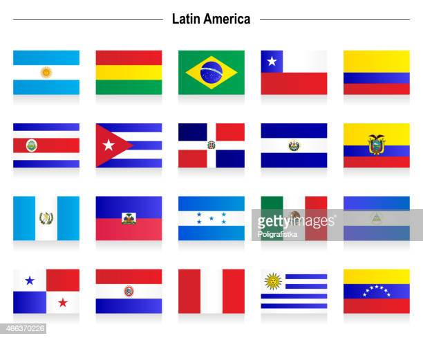flags - latin america - dominican republic flag stock illustrations