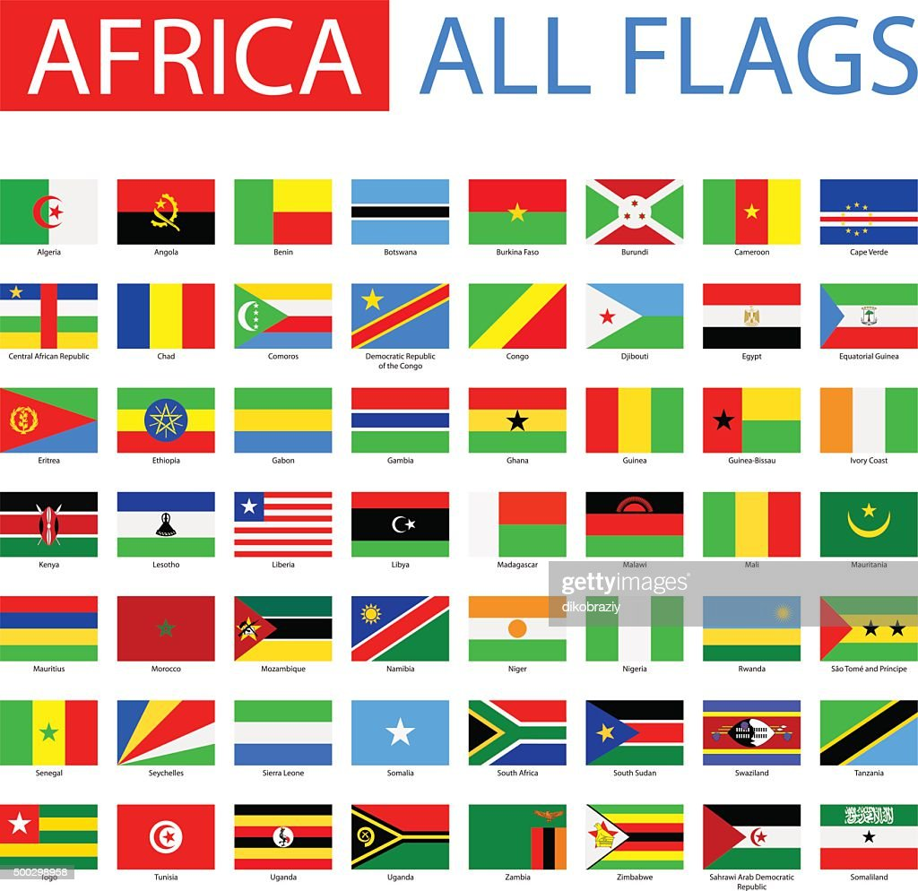 Flags of Africa - Full Vector Collection