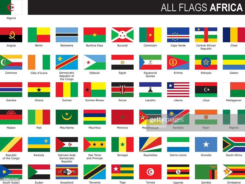 flags of Africa : stock illustration