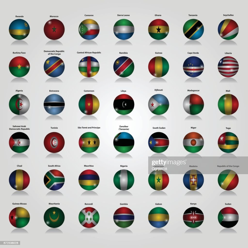 Flags of Africa Vector Illustration