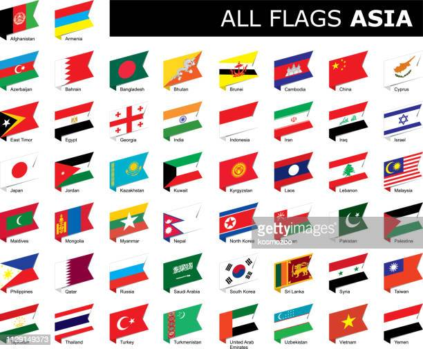 flags of asia - thailand stock illustrations