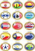 Flags of Australia, Oceania, Polynesia, Micronesia and Melanesia.