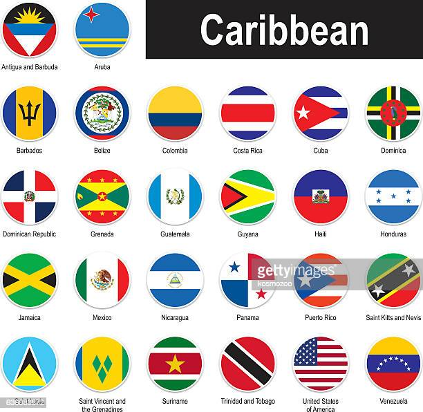 flags of caribbean - jamaica stock illustrations, clip art, cartoons, & icons