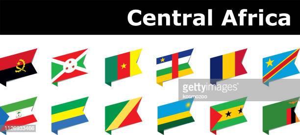 drapeaux de l'Afrique centrale