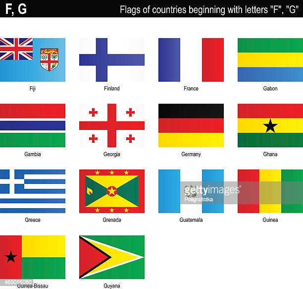 """flags of countries - """"f"""", """"g"""" - ghana flag stock illustrations, clip art, cartoons, & icons"""