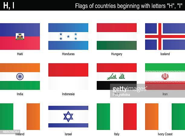 """flaggen der länder-""""h"""", """"ich"""" - côte d'ivoire stock-grafiken, -clipart, -cartoons und -symbole"""
