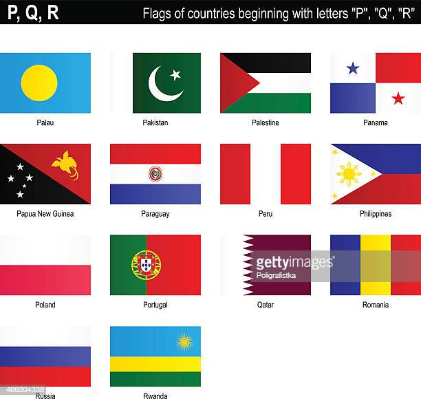 "Flags of countries - ""P"", ""Q"", ""R"""