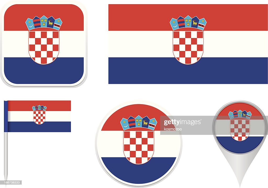 Flags Of Croatia Vector Art Getty Images