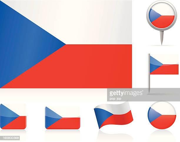 Flags of Czech Republic - icon set