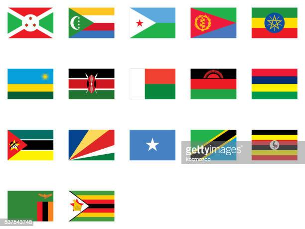 flags of east africa - zimbabwe stock illustrations, clip art, cartoons, & icons