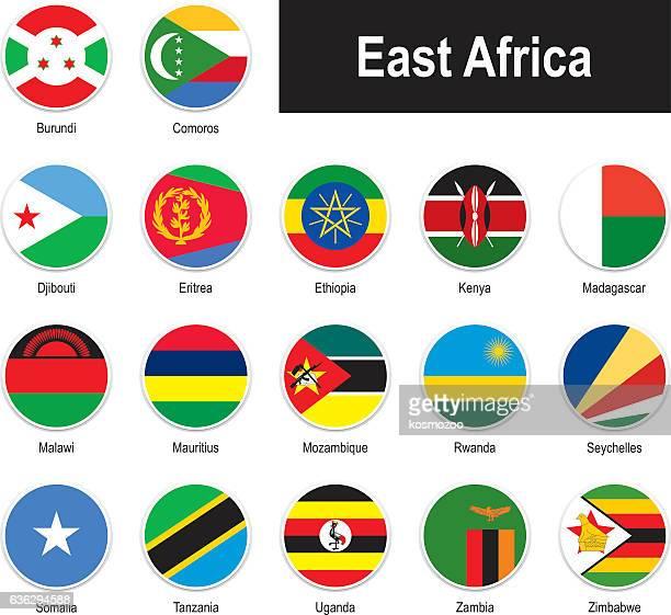 ilustrações, clipart, desenhos animados e ícones de bandeiras da áfrica oriental - ilhas maurício