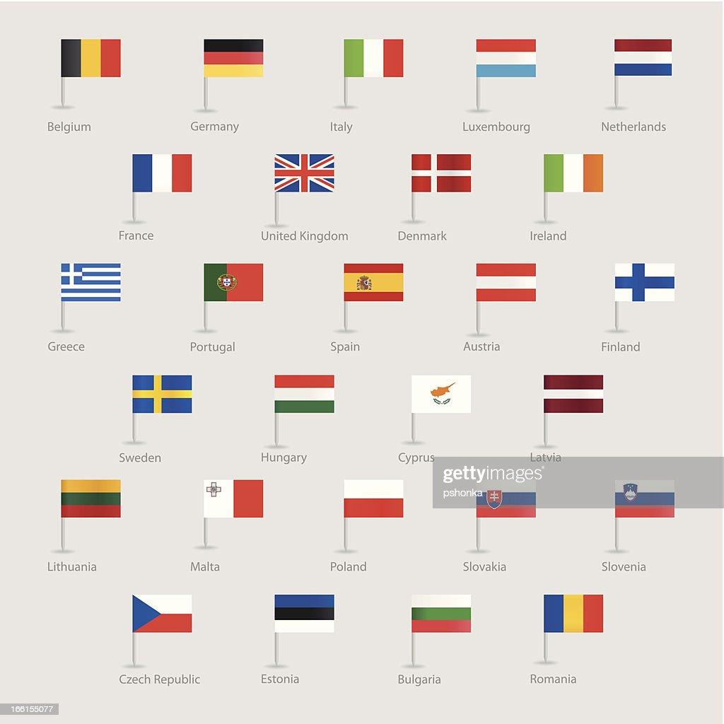 Flags of EU countries
