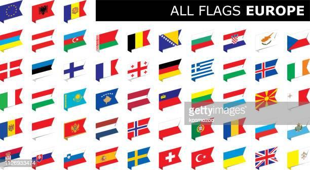 ヨーロッパの国旗 - 地理的地域 国点のイラスト素材/クリップアート素材/マンガ素材/アイコン素材