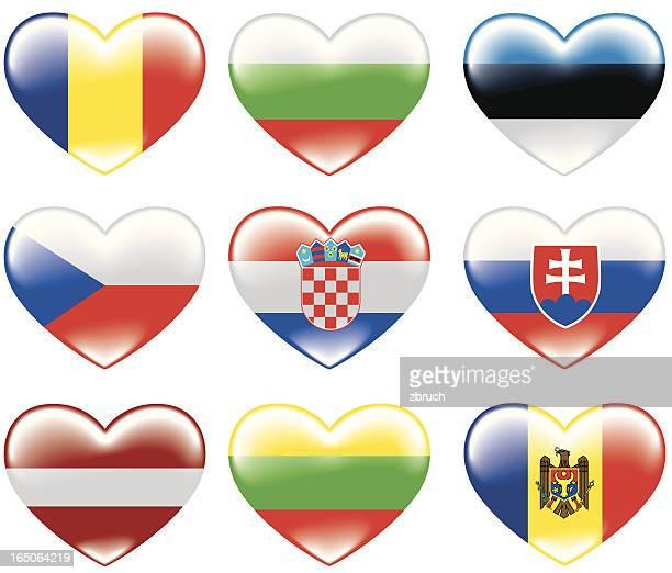 flags of europe - croatian flag stock illustrations, clip art, cartoons, & icons