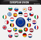 Flags of European Union and members