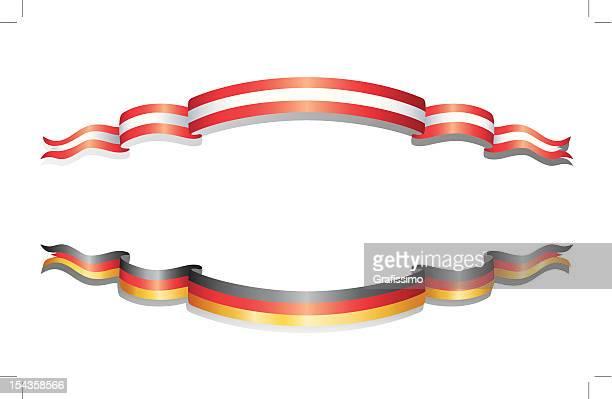 Flaggen von Deutschland und Österreich