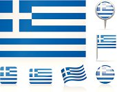 Flags of Greece - icon set