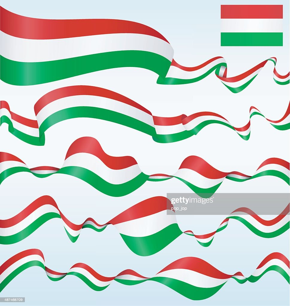 Flags of Hungary - banners : stock illustration