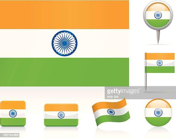 Flaggen von Indien-icon-set