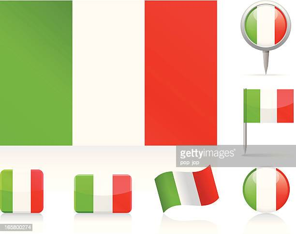Flags of Italy - icon set