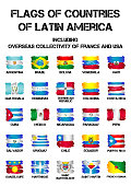 Flags of Latin America countries