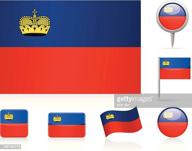 Flags of Liechtenstein-icon-set