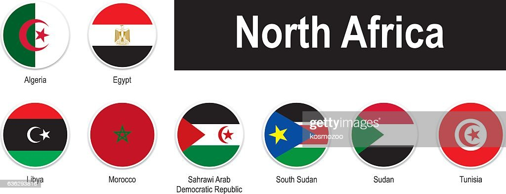 Flags Of North Africa Vector Art Getty Images - north flags