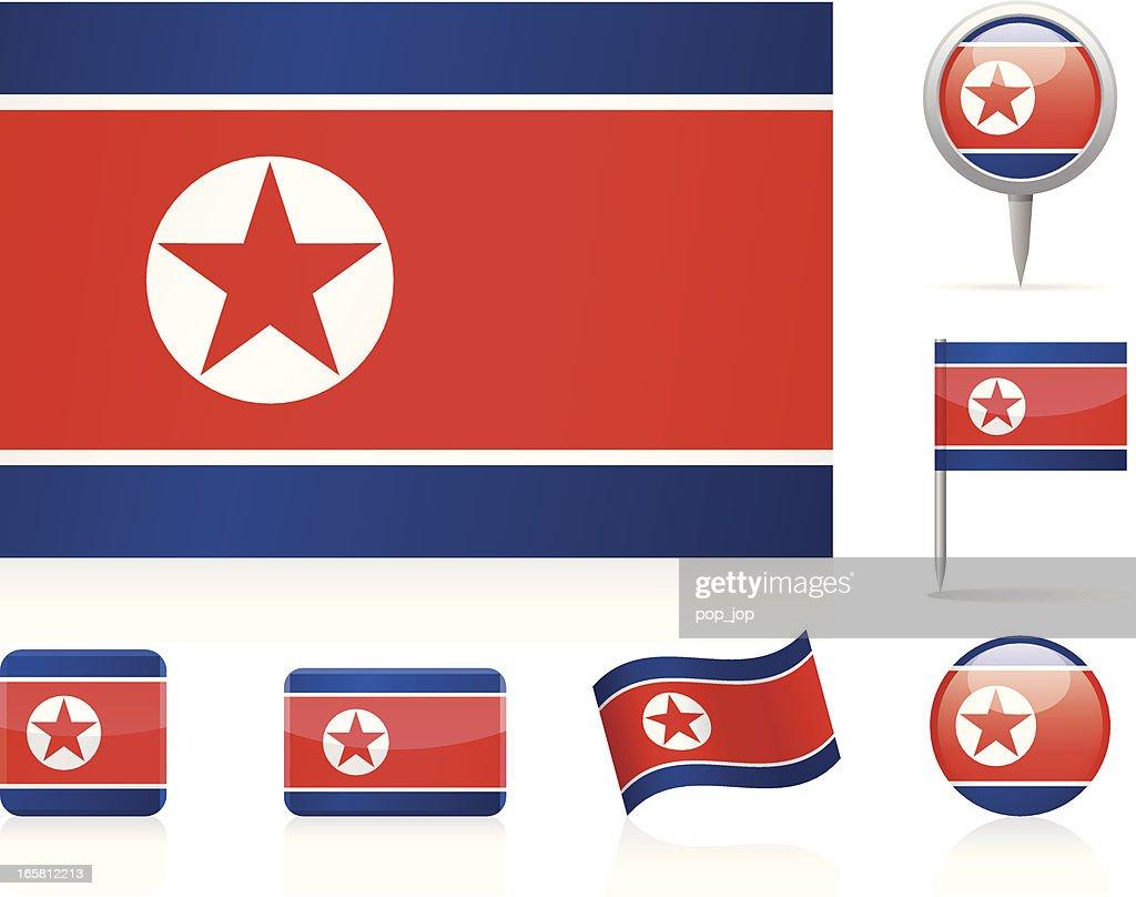 Flags of North Korea - icon set