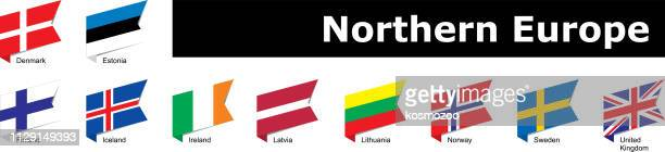 flags of northern europe - latvia stock illustrations