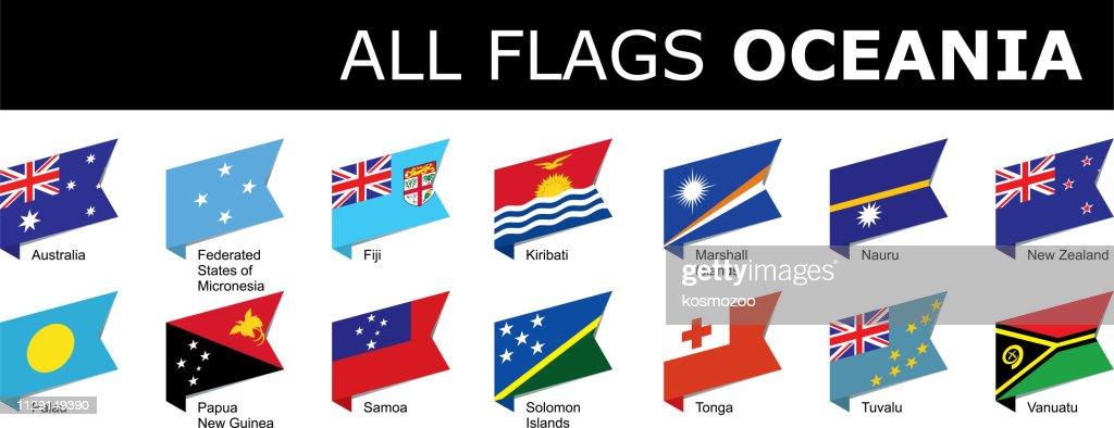 flags of Oceania : stock illustration