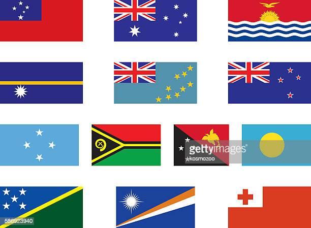 flags of oceania - samoa stock illustrations, clip art, cartoons, & icons