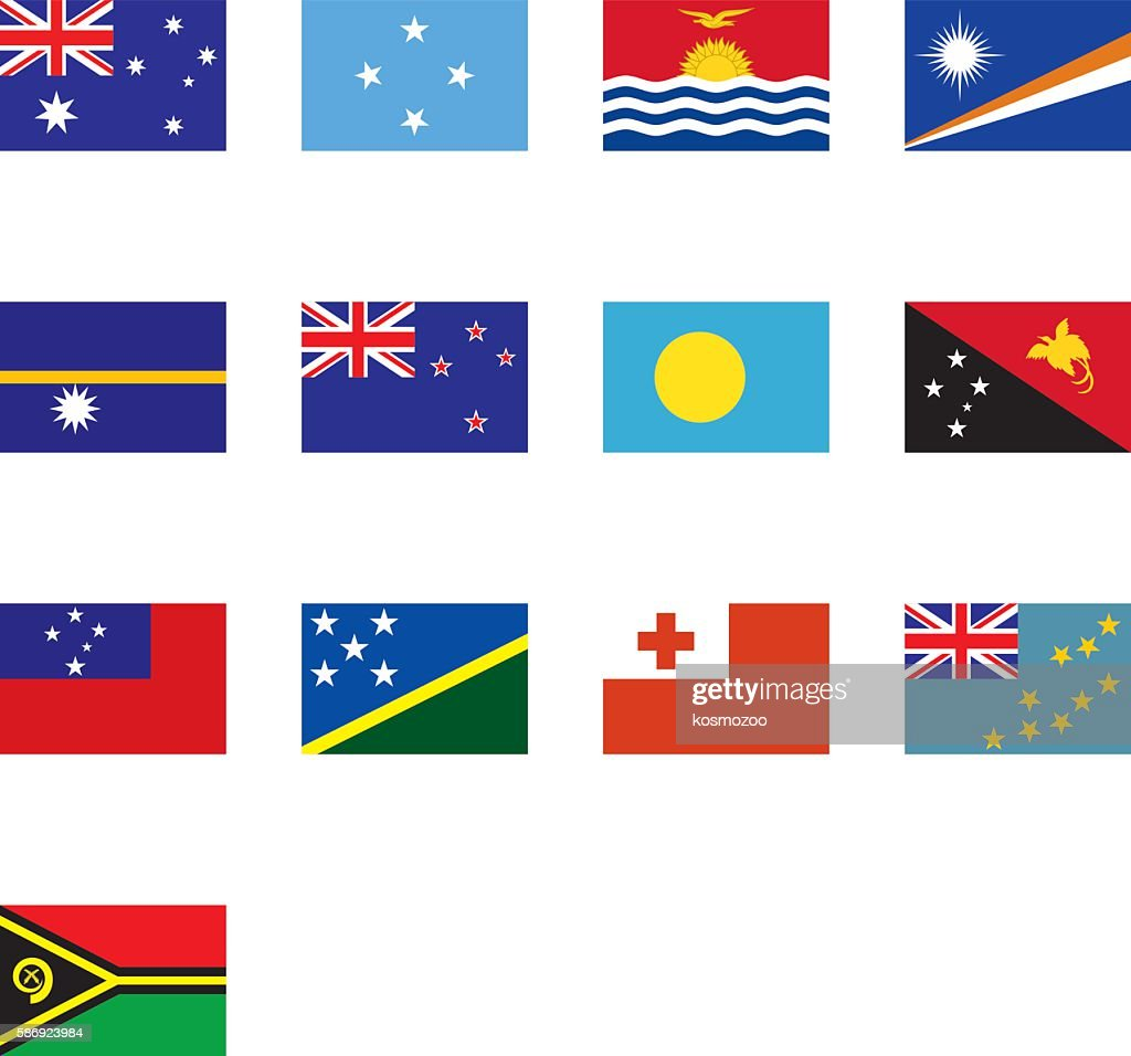 Flags Of Oceania High Res Vector Graphic Getty Images