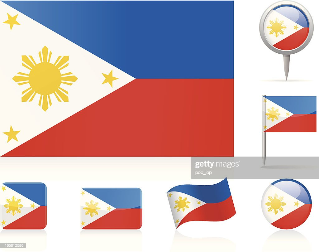 Flags of Philippines - icon set