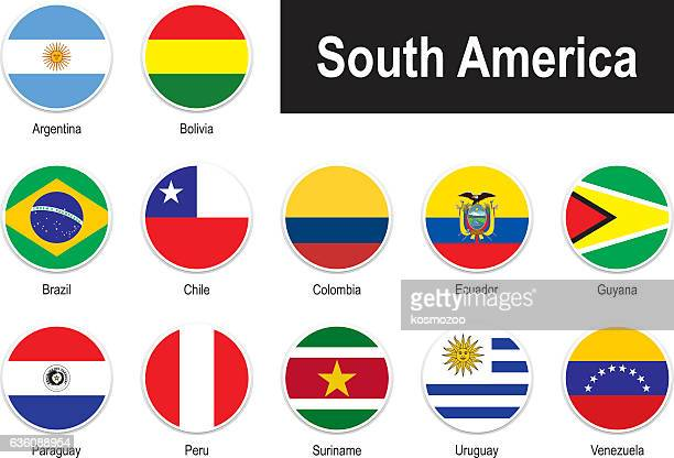 flags of south america - colombia stock illustrations