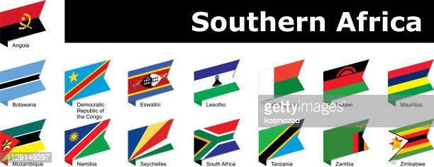 drapeaux de l'Afrique australe