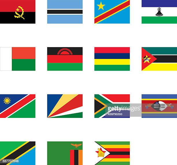 flags of southern africa - eswatini stock illustrations, clip art, cartoons, & icons