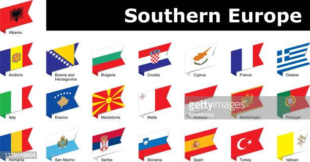 flags of southern Europe