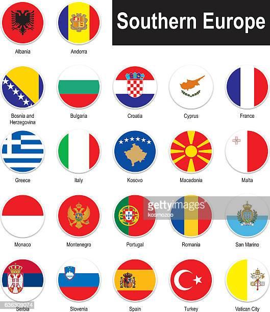 Bandiere dell'Europa meridionale
